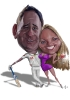 Wedding Signing Board Caricature